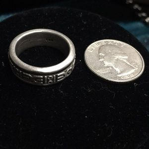 Other - Sterling 925 unisex Spinner Ring symbol Band 9